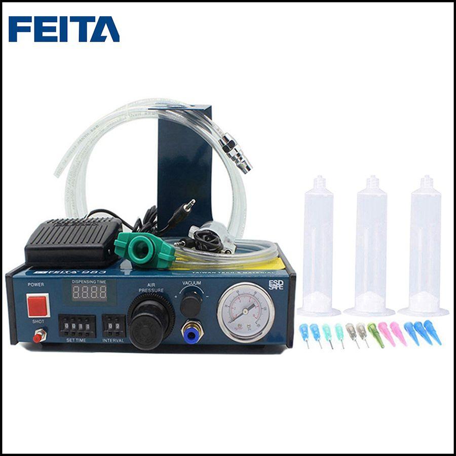 FEITA FT-983 Auto Abgabe Epoxy Pipette Flüssigkeit Kleber Dispenser Doming Maschine für Aufkleber und Etikettendrucker