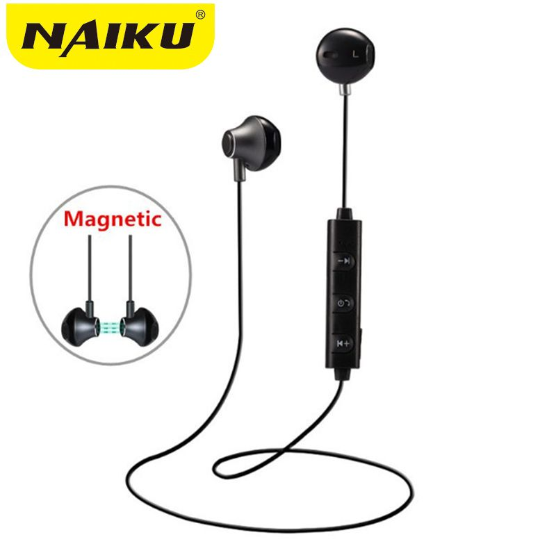 NAIKU 820 in Ear Wireless Bluetooth Earphone Magnetic Stereo Sport Running Headsets With Mic For IPhone Earpod Samsung Xiaomi