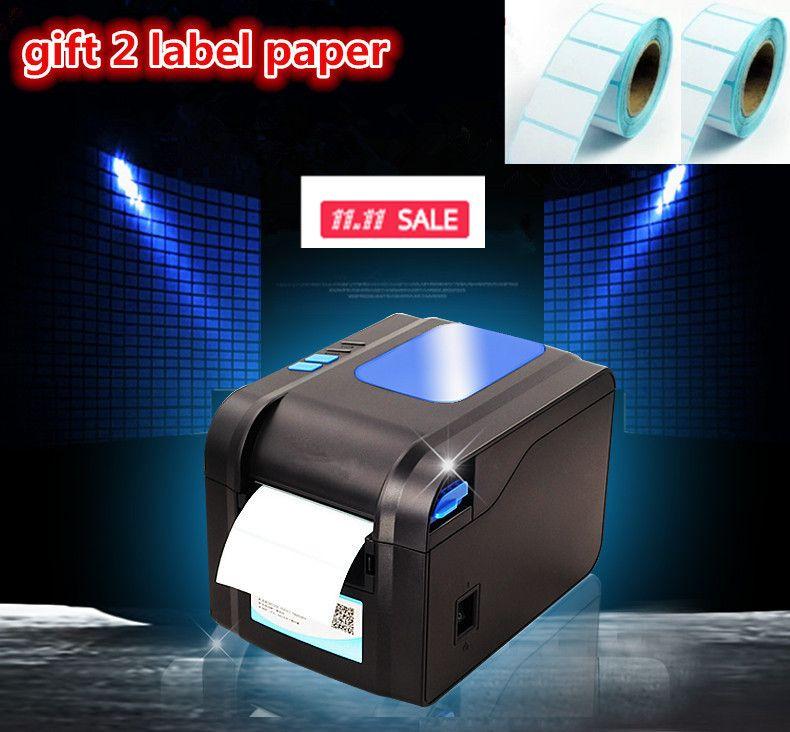 2016new Gift2 étiquettes papier + étiquette imprimante vêtements étiquettes supermarché prix autocollant imprimante Support pour l'impression 22-80mm widh