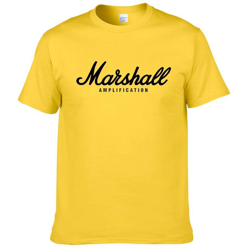 2017 offre spéciale été 100% coton Marshall t-shirt hommes manches courtes tee hip hop streetwear pour les fans hipster XS-2XL #220