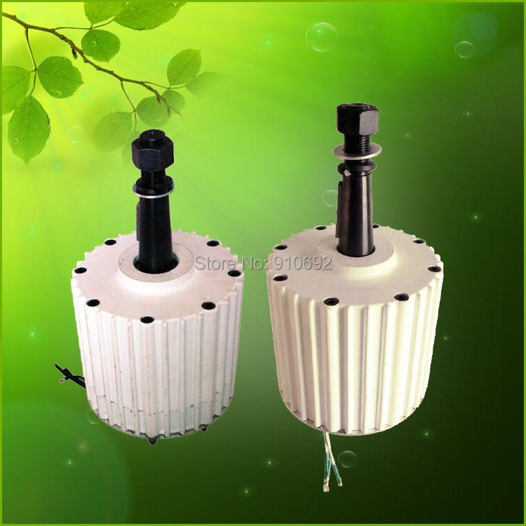Flyt niedrige anlaufmoment 2kw AC 96 V seltenerd-permanentmagnet-generator 48 v 120 v