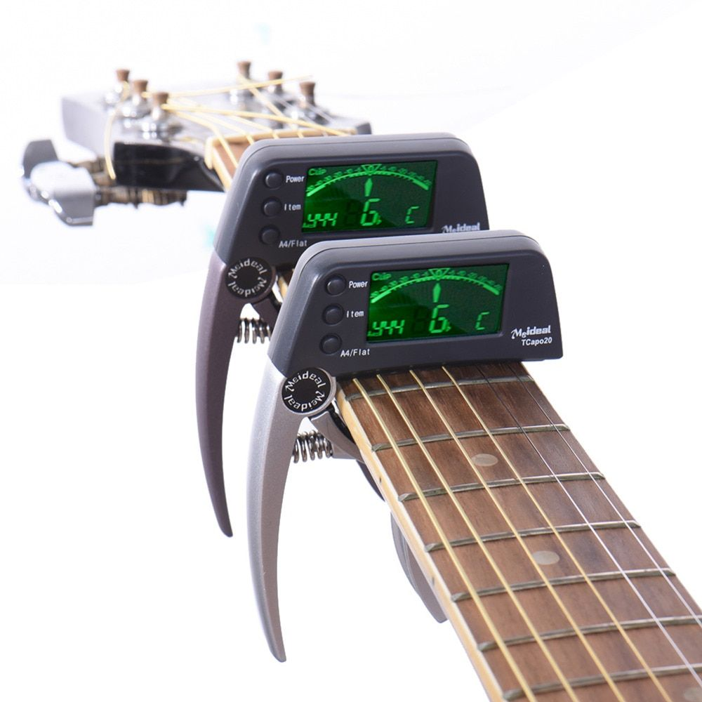 Meideal Guitar Capo Professional Acoustic Electric Guitar Capo Tuner 3 Tuning mods Guitar <font><b>Bass</b></font> and Chromatic Support Wholesale