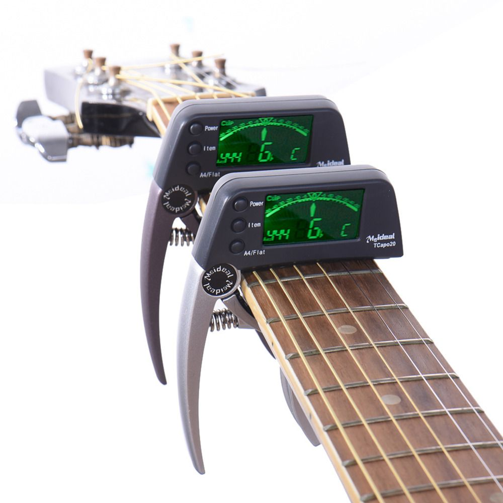 Meideal Guitar Capo Professional Acoustic Electric Guitar Capo <font><b>Tuner</b></font> 3 Tuning mods Guitar Bass and Chromatic Support Wholesale