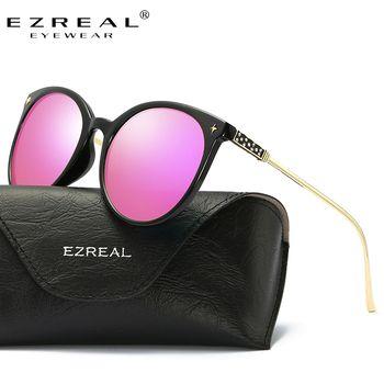 Ezreal кошачий глаз Классический бренд поляризационные Солнцезащитные очки для женщин Для женщин Лидер продаж Защита от солнца Очки Винтаж Ó...
