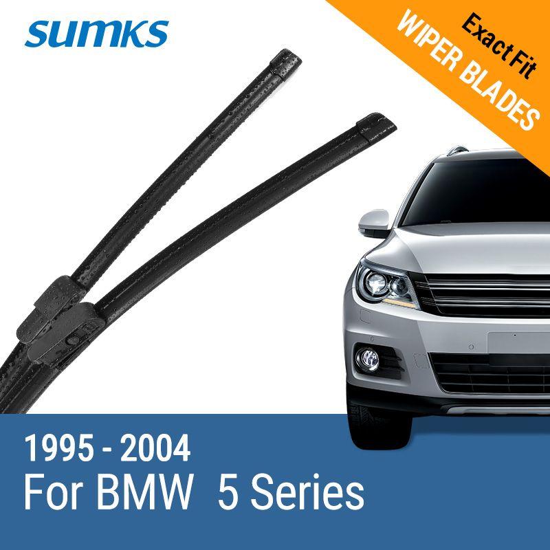 SUMKS Limpiaparabrisas para BMW Serie 5 E39/5 Series E60/E61 24