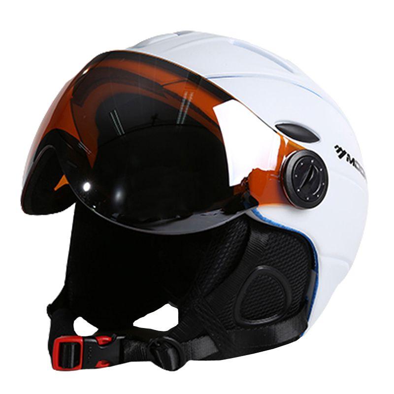 MOON Best Quality Goggles Skiing Helmet In-mold CE Certification Ski Helmet Snowboard or Skateboard Helmet With Glasses