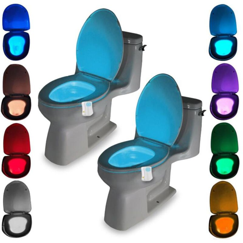 Washingroom Bathroom Motion Bowl Toilet light Activated On/Off Lights Seat Sensor Lamp nightlight seat light