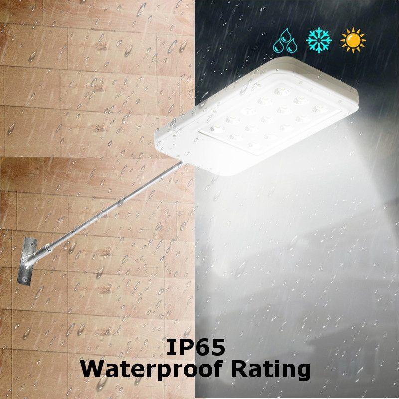 Smuxi 15/25 LED Ultrathin Waterproof Solar Wall Street Path Light Outdoor Garden Lamp