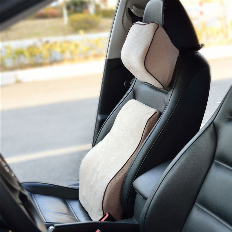 Back Supporte for Car Seat Neck Pillow Fiber Slow Rebound Memory Foam Hot Production on Sale