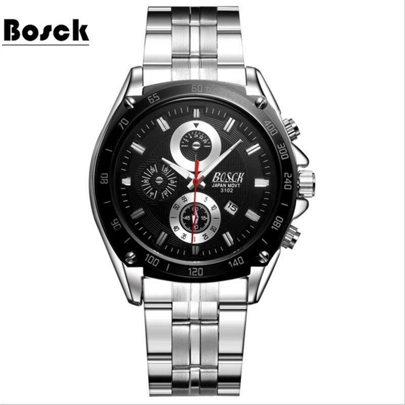 Fashion Simple Men Watch Waterproof Blue <font><b>Point</b></font> Casual Quartz Watches Men with Date Week Wristwatch