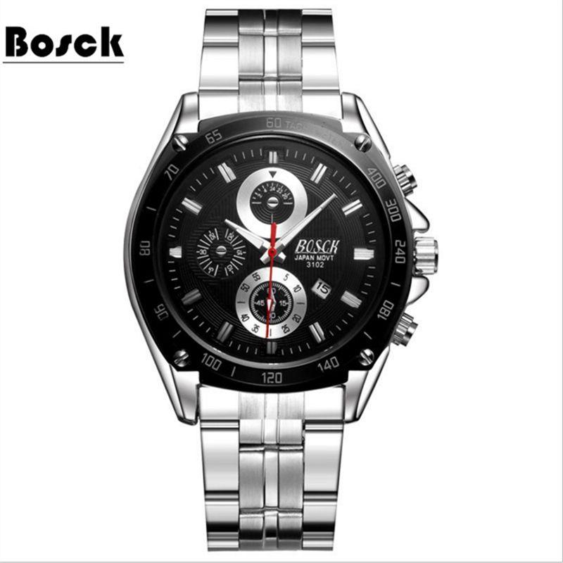 Fashion Simple Men Watch Waterproof Blue Point Casual Quartz Watches Men with Date Week Wristwatch