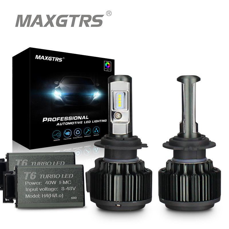 MAXGTRS H1 H3 H4 H7 H8 H11 9005 HB3 <font><b>9006</b></font> HB4 9012 880 881 70W 8000Lm Car LED Headlight Bulb Canbus 6000K Fog Lamp Bulb 12V 24V