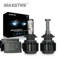 MAXGTRS H4 Здравствуйте/lo H7 H8 H11 9006 автомобилей светодио дный фары 9005 HB3 HB4 H1 H13 880 881 Здравствуйте gh Мощность Canbus W Здравствуйте te 6000 К лампы заменить...