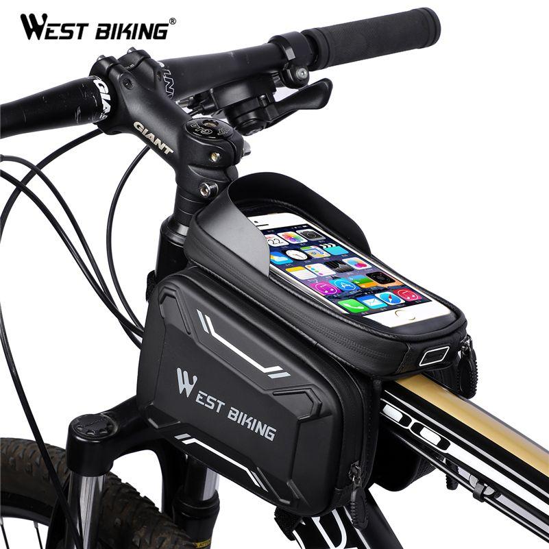 Sacs de vélo de vélo WEST cadre avant sac de vélo vtt de haute qualité accessoires de cyclisme écran étanche sac de téléphone Tube tactile