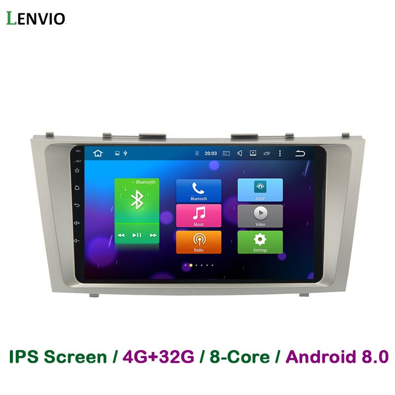 Lenvio 4G RAM 32G ROM Octa Core Android 8.0 Car DVD GPS Navigation Player For Toyota Camry 2007 2008 2009 2010 2011 Radio 3G IPS