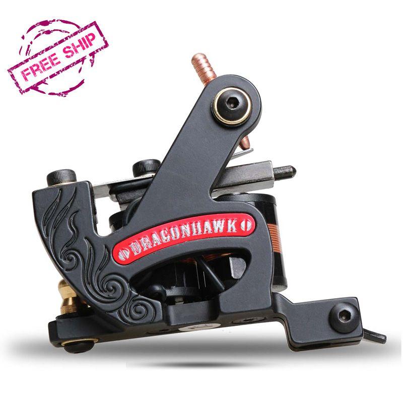 Top Verkauf Feine Futter Maschine Professionelle Eisenrahmen 10 Wrap Spulen Tattoo Guns Suppies