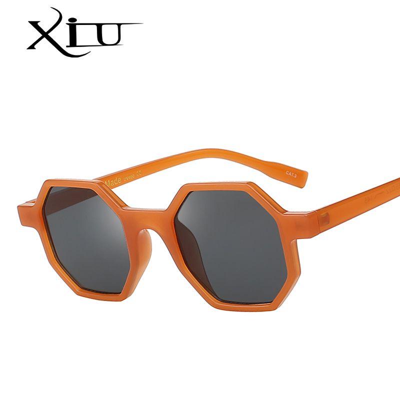XIU 2018 New Multi Shades Retro Vintage Suglasses Men Women Brand Design Fashion Glasses Luxury Quality Eyewear UV400