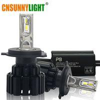 Cnsunnylight супер яркий светодио дный фар автомобиля H7 H11/H8 9005/HB3 9006/HB4 9012 D1/D2/D3/D4 H4 H13 45 Вт 6800Lm/шарик 6000 К чистый белый