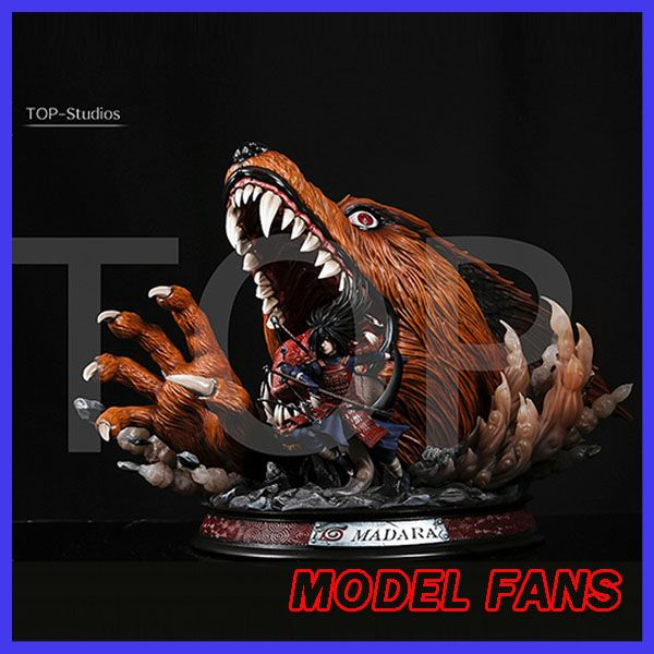 MODEL FANS IN-STOCK NARUTO TOP-Studios Uchiha Madara kyuubi gk resin statue contain led light figure toy for collection