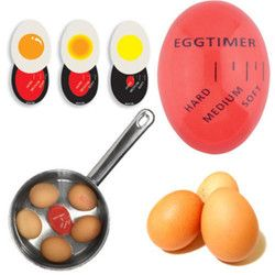 1pcs Egg Perfect Color Changing Timer Yummy Soft Hard Boiled Eggs Cooking Kitchen Eco-Friendly Resin Egg Timer Red timer tools