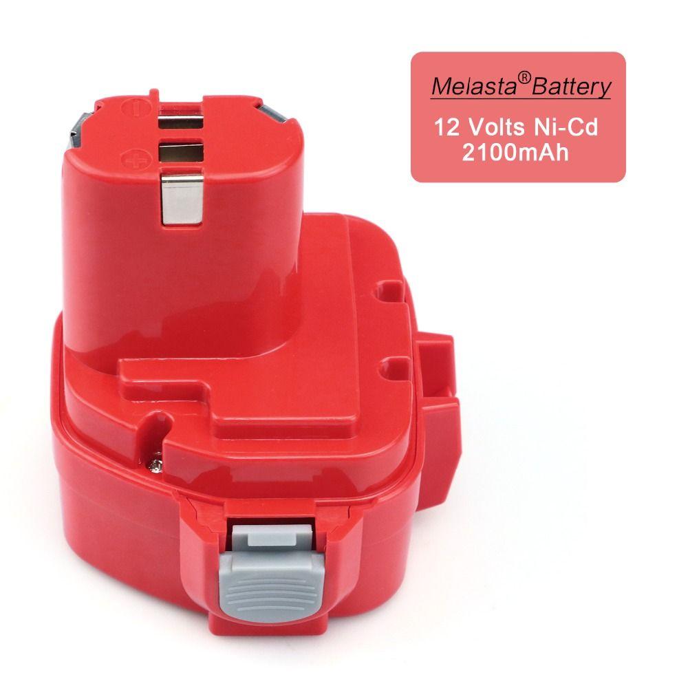 MELASTA 12v <font><b>NiCd</b></font> 2100mAh Battery Replacement Battery for Makita 1220 PA12 1222 1233S 1233SA 1233SB 1235 1235A 1235B 192598-2