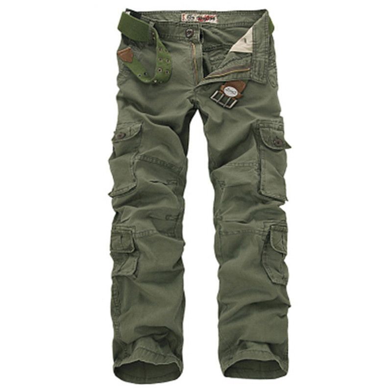 Fashion Military Cargo Pants Men Loose Baggy Tactical Trousers Oustdoor Casual Cotton Cargo Pants Men <font><b>Multi</b></font> Pockets Big size