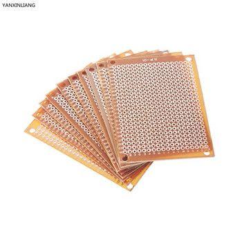 10Pcs new Prototype Paper Copper PCB Universal Experiment Matrix Circuit Board 5x7cm Brand