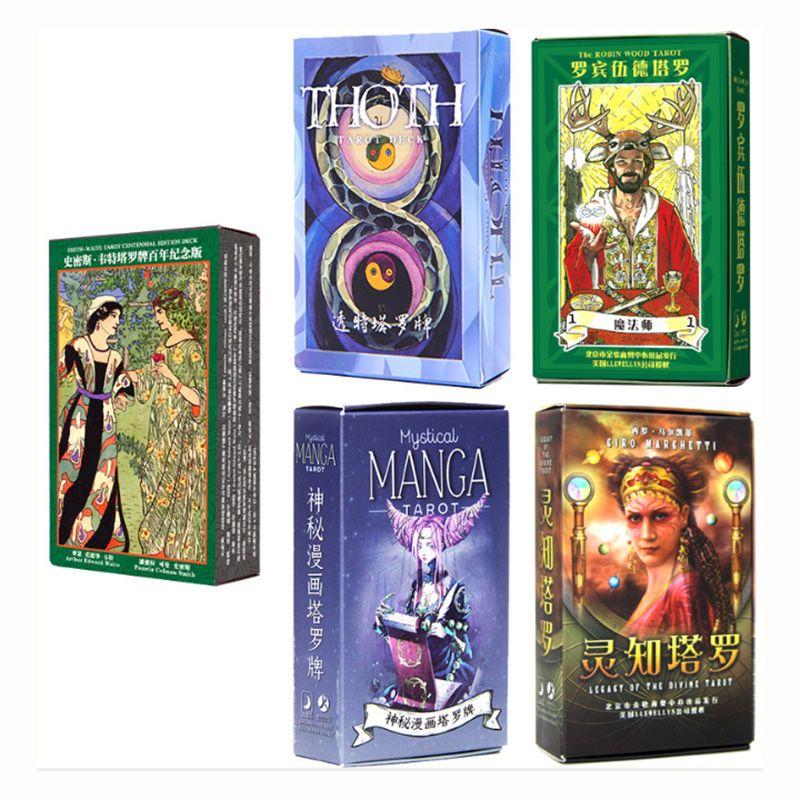 10 sortes Tarot jeu de cartes jeu de cartes Manga/classique/ombre Tarot jeu de société pour la famille/amis