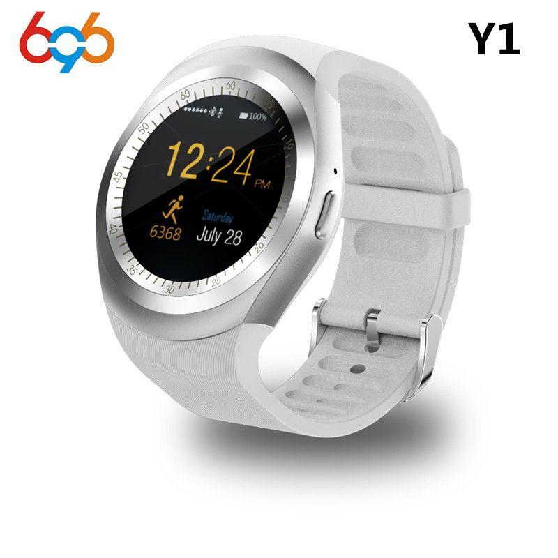 696 Bluetooth Y1 Montre Smart Watch Ronde Soutien Nano 2G SIM & TF carte Avec Whatsapp Facebook App Pour IOS et Android Téléphone PK DZ09 GT08