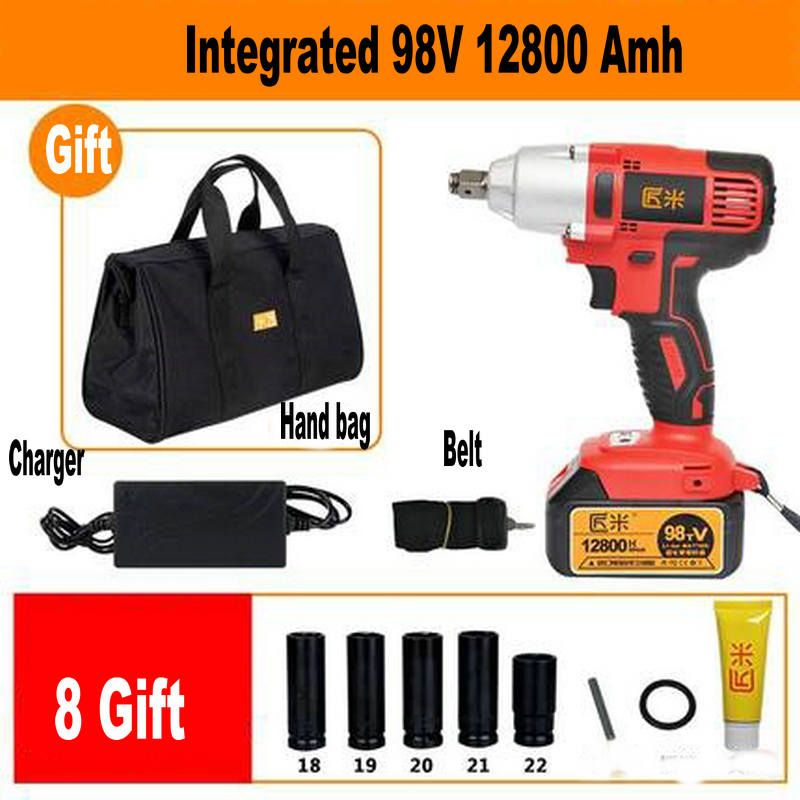 68TV 8000amh 98V 12800amh Cordless Electric Wrench Impact Socket Wrench Li Battery Hand Drill Hammer Installation Power Tools