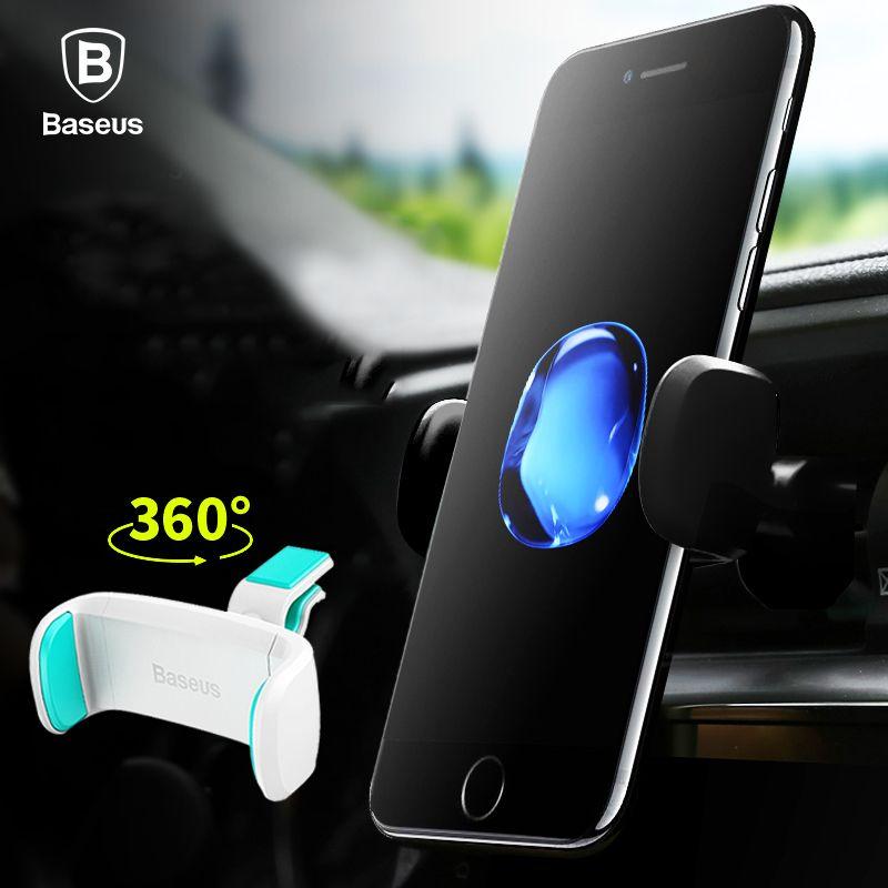 Baseus Auto Handyhalter Für iPhone 7 6 360 Degree Mobilen Handyhalter Soporte Movil Kfz Halterung Handy Halter stehen