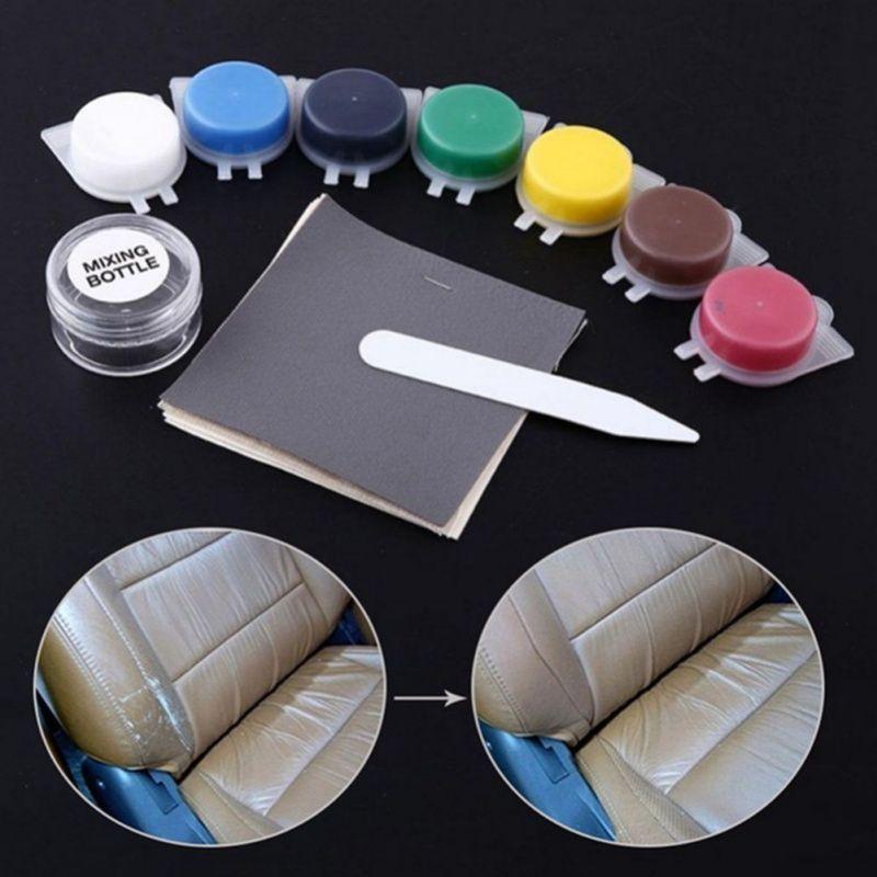 Motorcycle Auto Leather Repair Tool Car Seat Sofa Coats Holes Scratch Cracks No Heat Liquid Leather Vinyl Repair Kit Universal