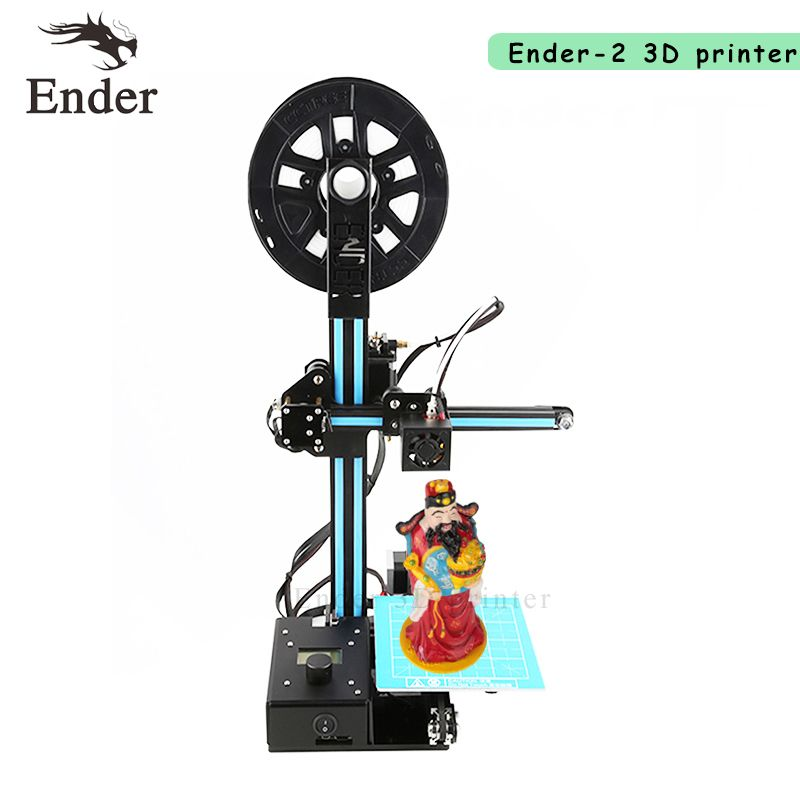 2018 Ender-2 3D printer Prusa i3 DIY KIT mini printer 3D Large printer size 150*150*200mm and filament+ 8G SD card Creality 3D