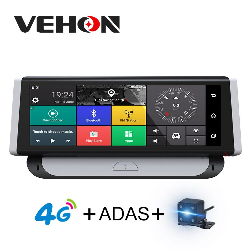 VEHON 7.84 inch Car Navigator with Car Carmera Video Recorder 4G ADAS Dash cam Bluetooth 1080P Dual Lens dvrs Gps Navigation