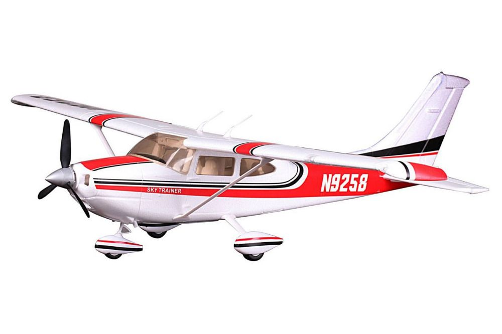 FMS Model 1400MM / 1.4M Sky Trainer Cessna 182 AT Red 5CH with flaps LED PNP Scale RC Model Plane aircraft