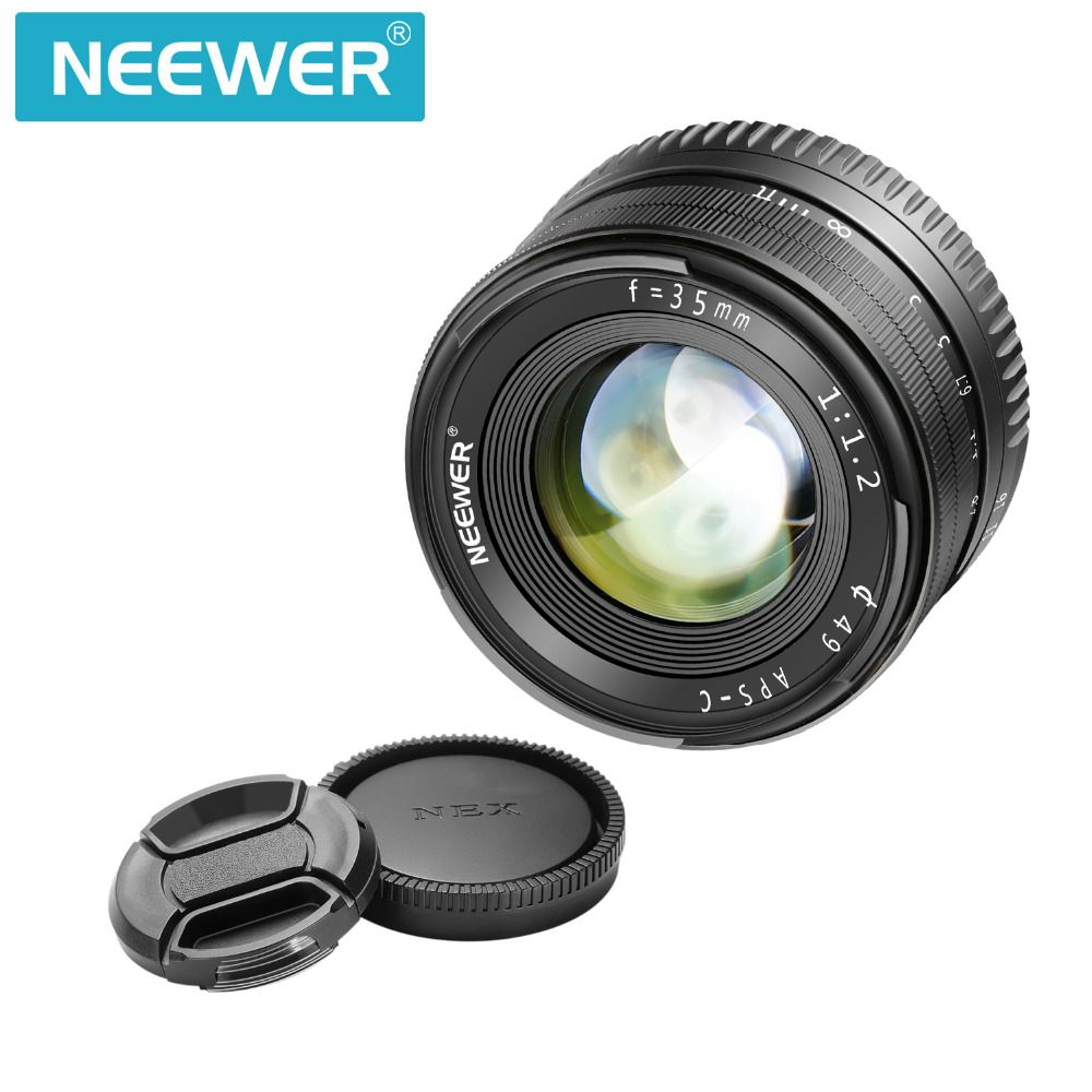 Neewer 35mm F1.2 Large Aperture Prime APS-C Aluminum Lens Compatible with Sony E Mount Mirrorless Cameras A6500 A6300 A6100 A600