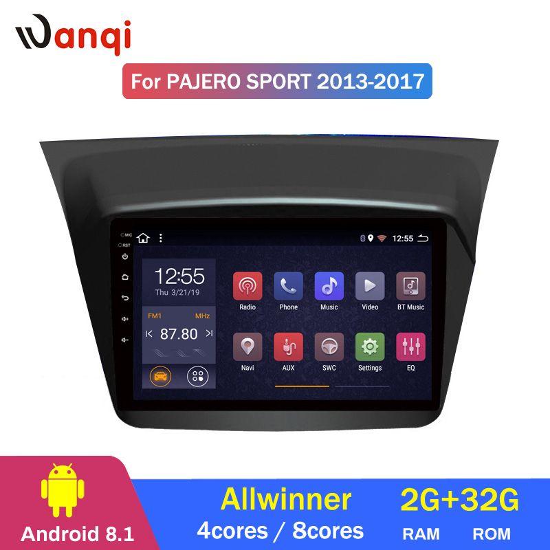 2G RAM 32G ROM Android 8.1 auto gps navigation Für Mitsubishi Pajero montero sport 2013-2017 multimedia system