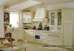 Классическая твердой древесины Кухня кабинета