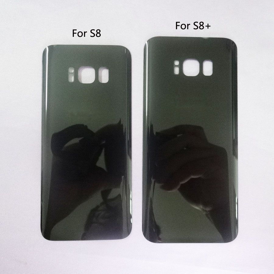 For Samsung Galaxy s8 G950 / S8+ S8 Plus G955 G955F s8plus Rear Panel Glass Battery Back Cover Housing Case + Adhesive with logo