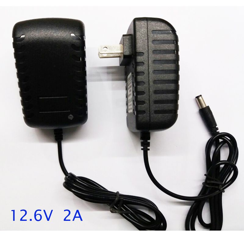 1pcs fast smart and intelligent 12.6V 2A lithium ion battery charger adaptor for 12v 11.1v Li-ion battery pack use
