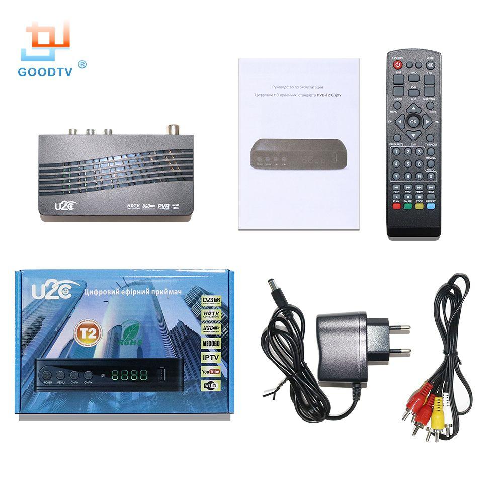 Tv Box U2C Tv récepteur Dvb-t2 décodeur DVB T2 numérique vidéo diffusion terrestre récepteur DVB T/T2 décodeur TV