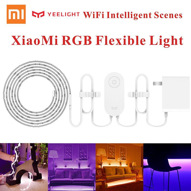 Hot Original Xiaomi Music Yeelight Smart home Phone App wifi light strip 2M 16 Million Color RGB Flexible Light 60 LEDs