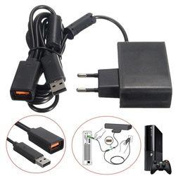 Noir AC 100 V-240 V Alimentation Plug UE Adaptateur USB Chargeur De Charge Pour Microsoft Pour Xbox 360 Kinect Capteur