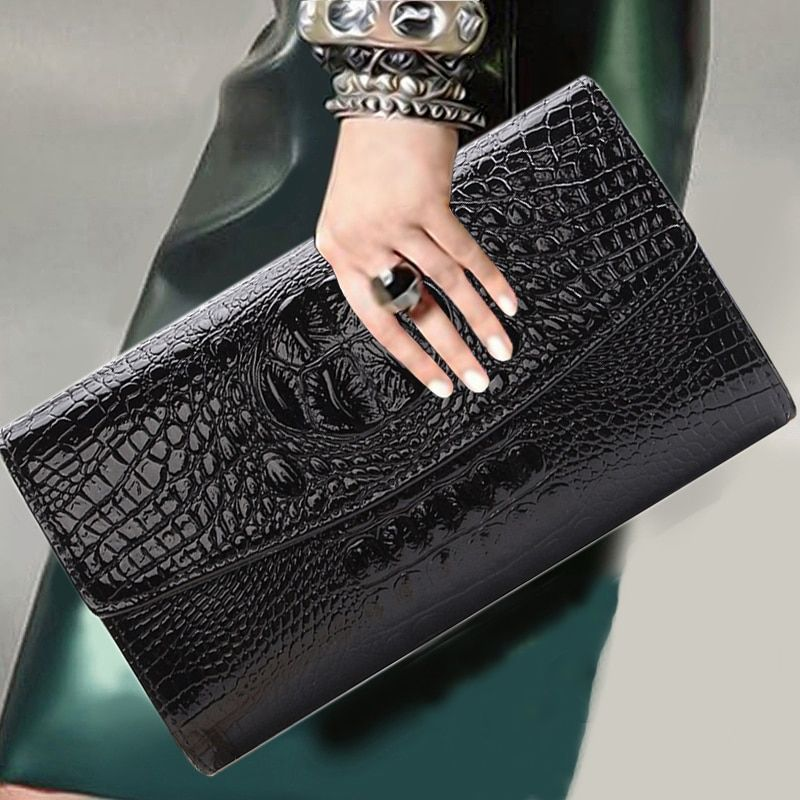 2018 <font><b>Gold</b></font> Chain Clutch Bag For Lady Women's Handbag Fashion Envelope Bag Party Evening Clutch Bags Black Purse Day Clutch
