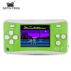 Data Frog consola de juegos portátil 2.5 pulgadas jugador handheld del juego construido en 89 no repetir clásico consolas de juegos mejor regalo para los niños