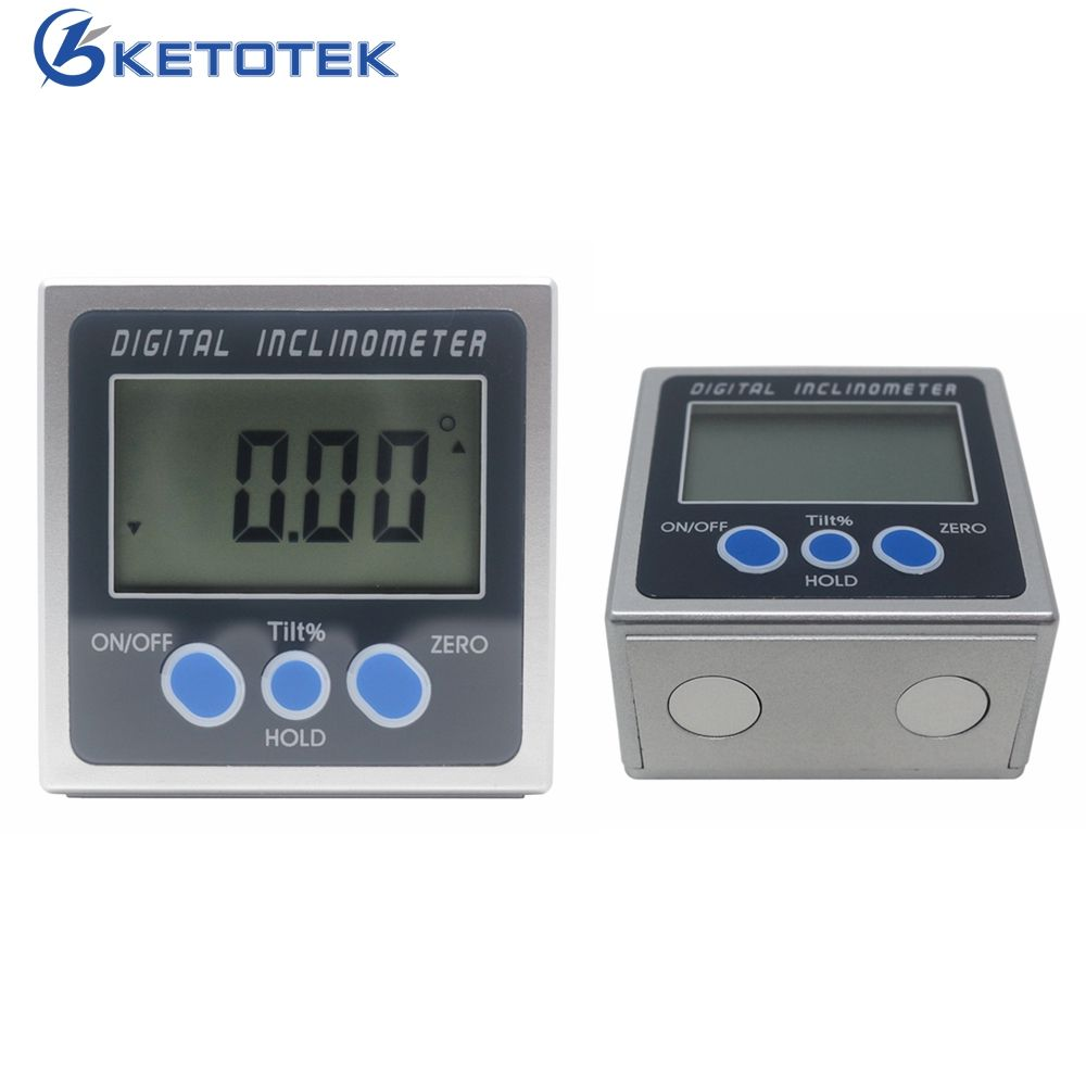 360degree Digital Bevel Box Meter Angle Gauge Electronic Mini Protractor Inclinometer Level Box with Magnets Base