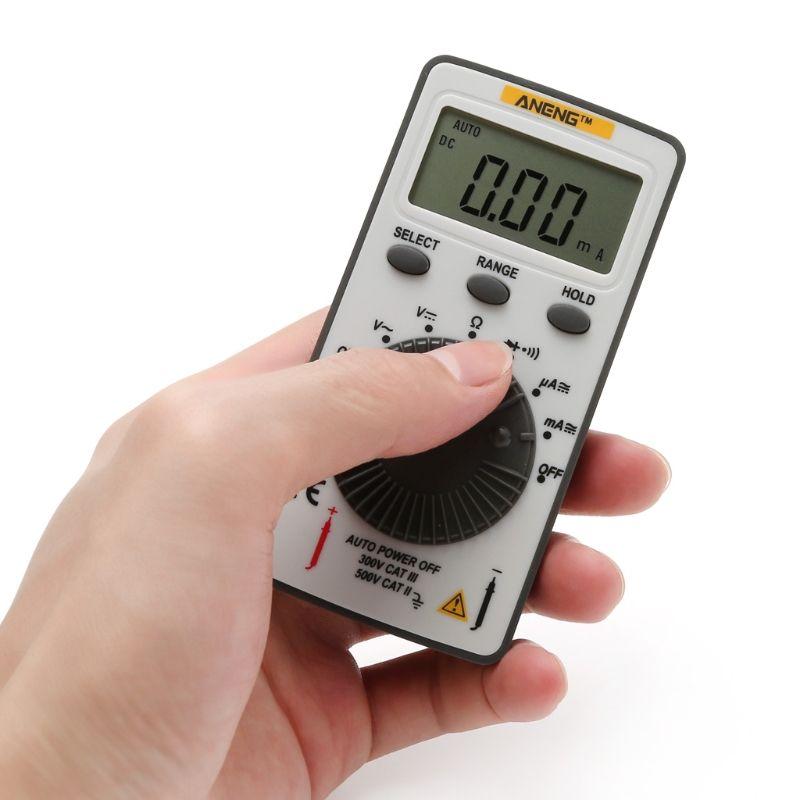 AN101 Pocket Digital Multimeter Backlight AC/DC Automatic Portable Meter Test Tools %328&313