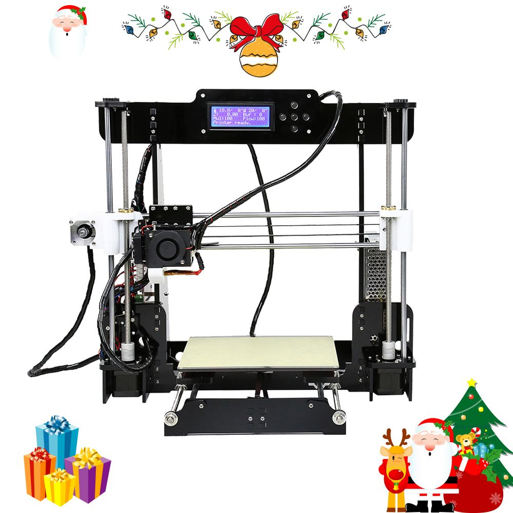 Anet A8 3d printer High Precision 0.4mm Nozzle Reprap Prusa i3 3D Printer Kit DIY Impresora 3d with filament Christmas Gifts