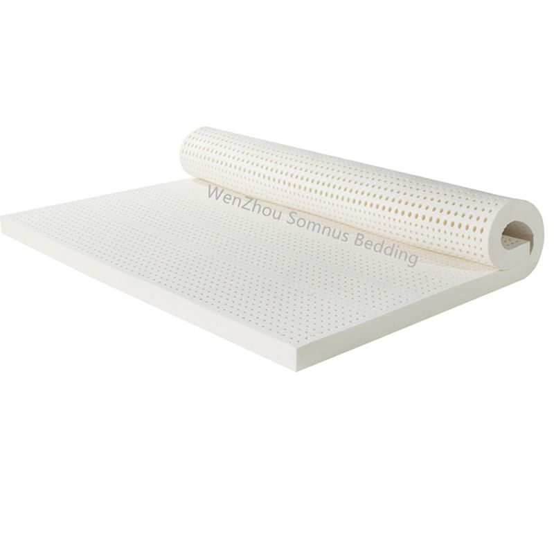 200x140x7.5CM Seven Zone Mold Flat Ventilated100%Natural Latex Mattress/Topper With Inner Cover Medium Soft
