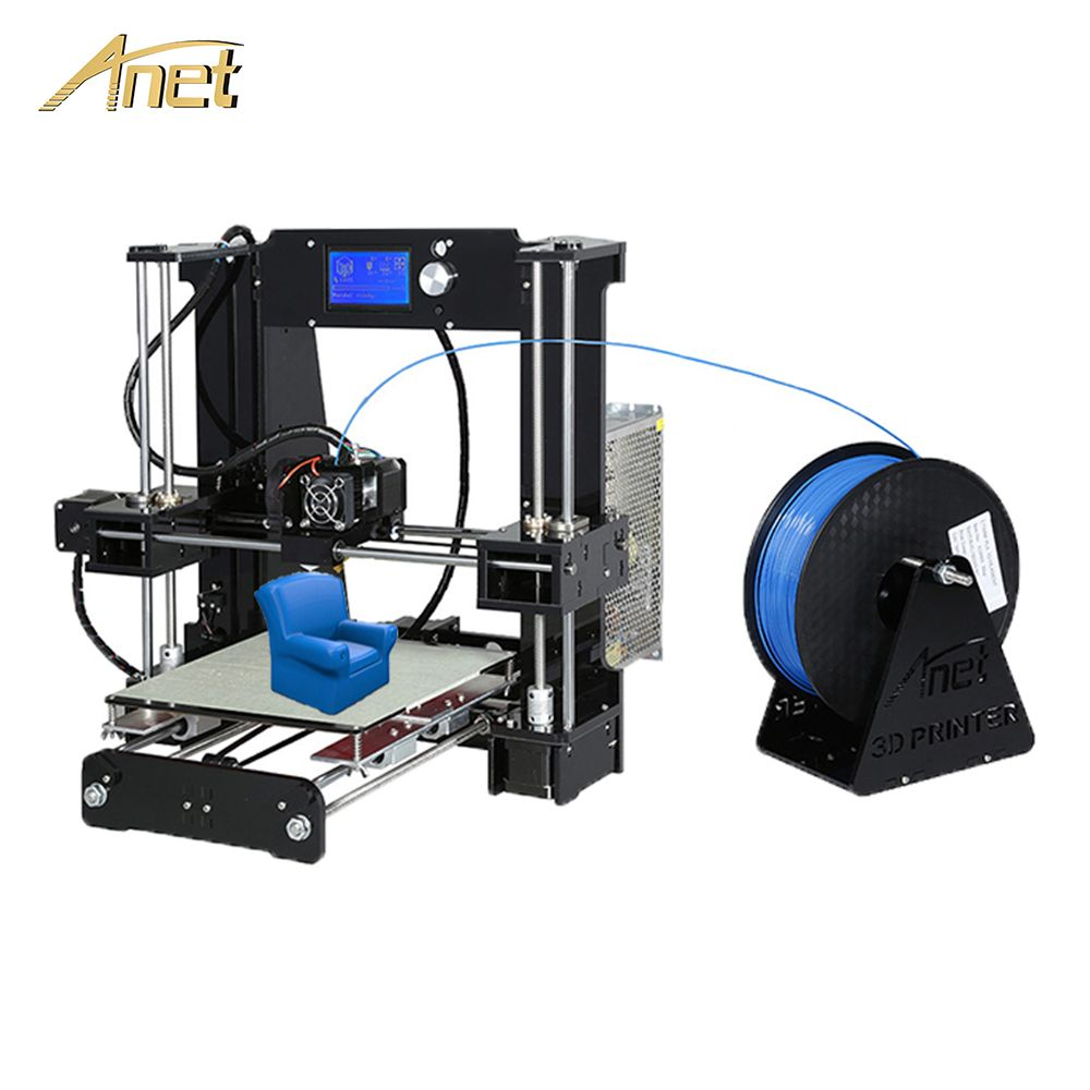 Anet A6 A8 Auto Nivellierung A8 3d drucker Hohe präzision Update Control board Reprap Prusa i3 3D Drucker Kit DIY mit PLA Filament